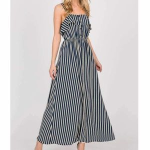 Unique Vintage LARA Fashion Stripe Maxi Dress